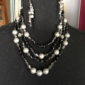 WHBM Necklace and Earring Set